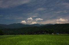 盛夏、雲の流れ