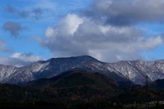 初冬の山々