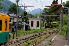 すれ違い(かぼちゃ電車君w)