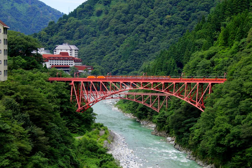 鉄橋を渡る~♪