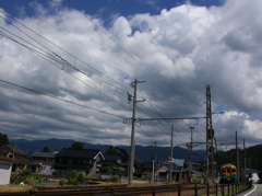 雲が追いかけてくる
