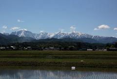 立山連峰、剣岳の裾野に広がる風景