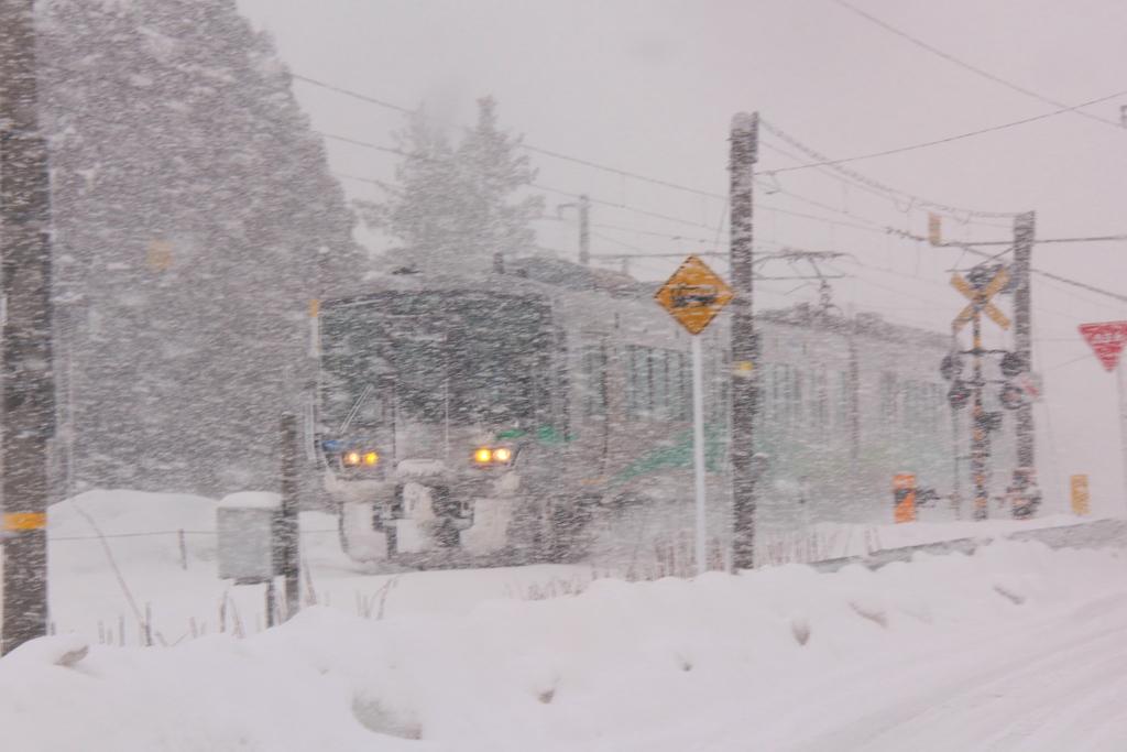 今、吹雪いています。