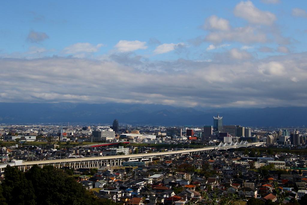 富山市内 (展望台より)