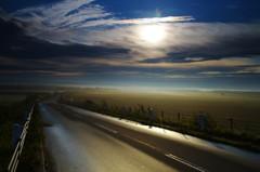 朝靄のかかる道