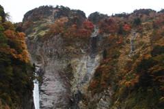称名滝の紅葉と黄葉