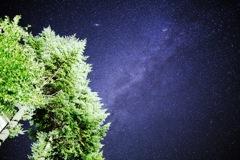 片品村の夜空