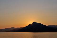 支笏湖の落日