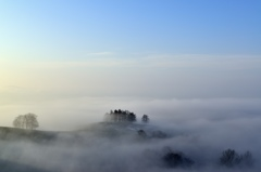 丸加高原 霧の朝