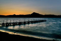 支笏湖 夕景