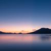 支笏湖 夜明