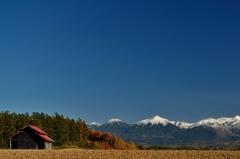 美瑛 10月の十勝岳連峰