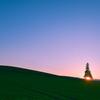 うすくれなゐ色の丘
