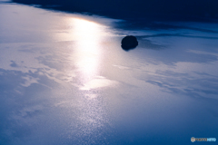 摩周湖 湖面の模様