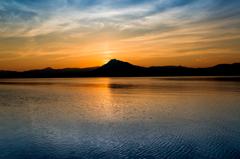 支笏湖 湖面を走る風