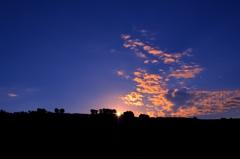丸加高原の朝焼け