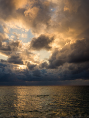 海に映る光