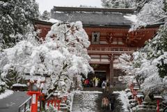雪花の山門
