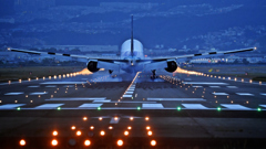 Touch down ! .  2