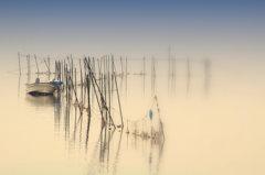 松江百景 朝霧の中 宍道湖