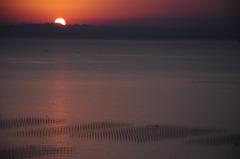 小脇公園の夕日
