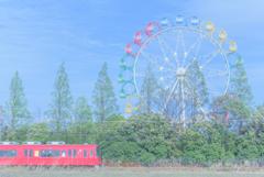 夢の中の赤い電車