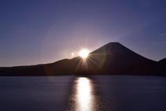 本栖湖の朝日