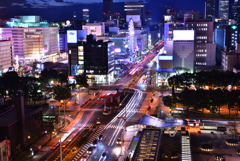 錦通の夜景