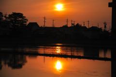ふたつの夕陽