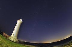 野間灯台の夜