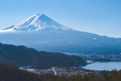 富士と河口湖