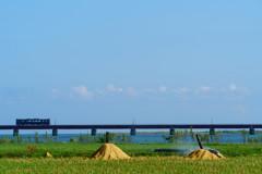 由良川橋梁、秋