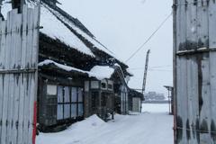 津軽の冬「古民家」
