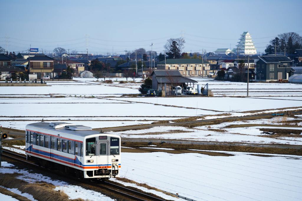 常総雪景色