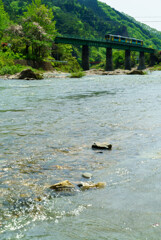 久慈川の流れ
