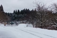 雪山へ向かって