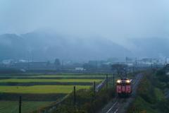朝霧の但馬路