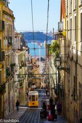 リスボン、坂の街