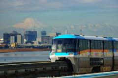 多摩川越しの富士