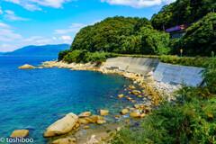 京丹後の海に