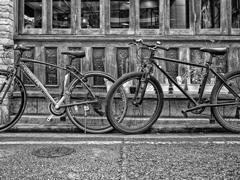 古壁の前に自転車