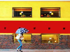 独逸カラーと日傘