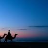 明けの砂漠をはるばると 旅の駱駝が行きました