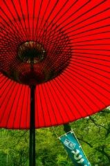 番傘の下で