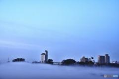 霧中に浮かぶ