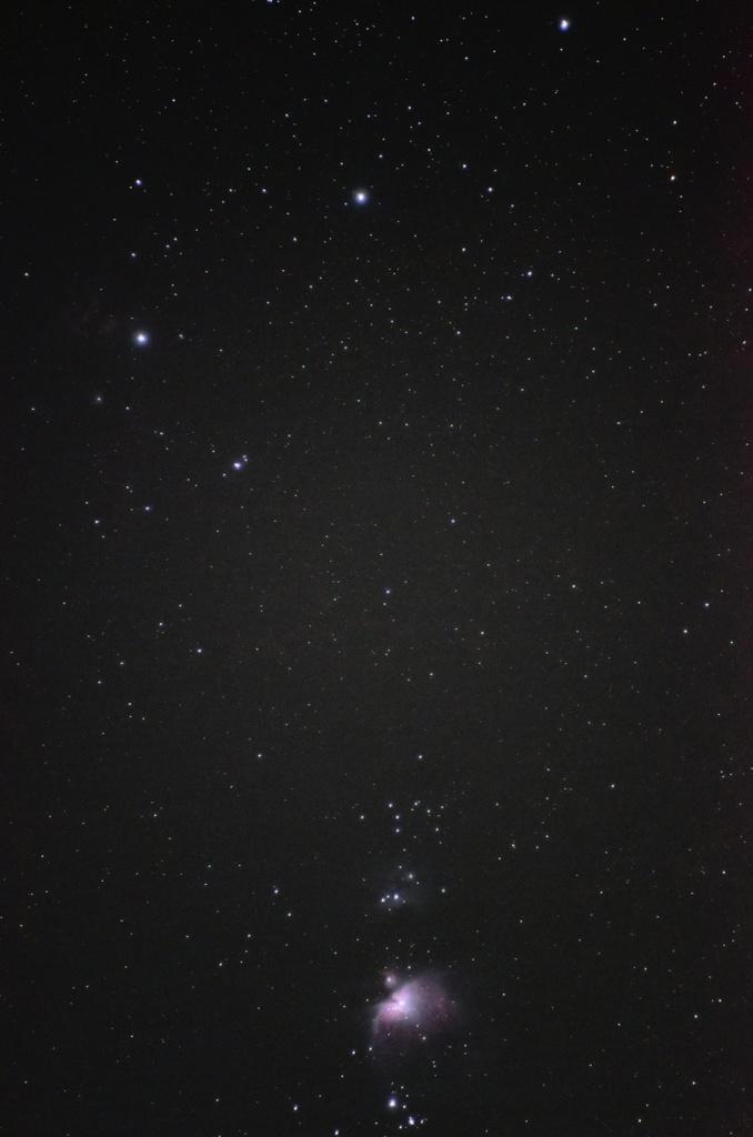 月食中の三つ星・小三つ星