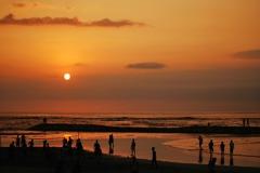 バリ島の夕日