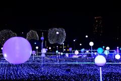 夜に浮かぶ球体