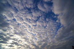 雲が逃げていく