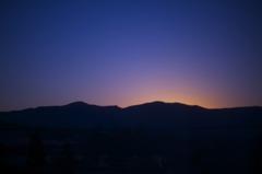 仙石原・夕焼け・稜線